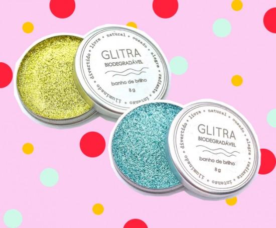 Glitra, purpurina biodegradável à base de plantas (R$ 45) - clica pra ver mais!