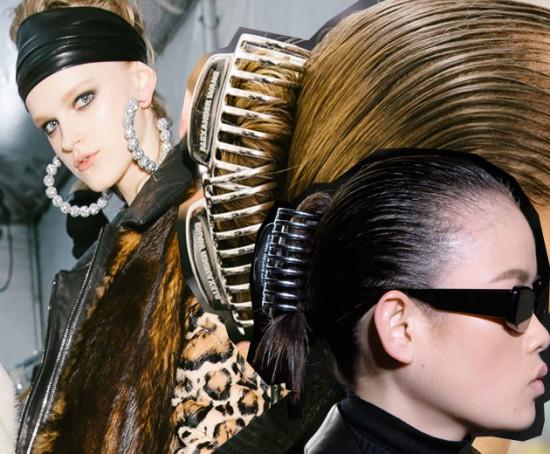 Penteados bem na onda noventinha nos desfiles da Semana de Moda de NY - vem ver e se inspirar!