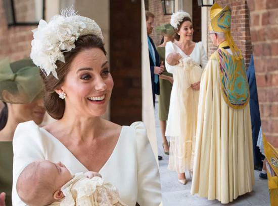 A mamãe Kate Middleton era só sorriso com o caçula no colo - vem ver mais!