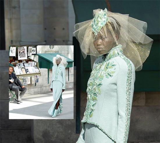 Adut Akech fechando o desfile da Chanel de noiva - vem ver mais!