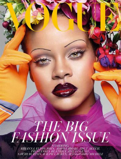 """Diga oi pra Rihanna, estrela da capa da """"Vogue"""" UK de setembro de 2018!"""