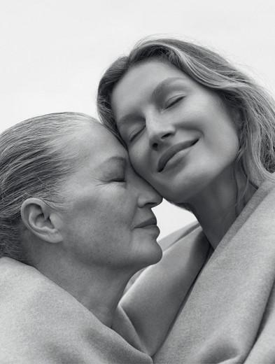 Dona Vânia com a filha, Gisele Bündchen! Vem ver as outras capas da