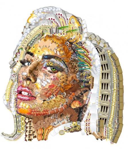 Lady Gaga feita de emojis! É da conta @yungjake, vem ver mais