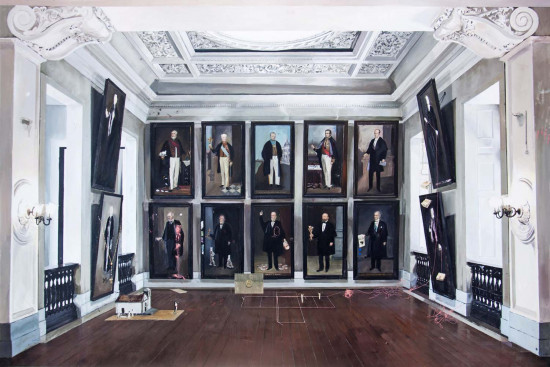 Sala dos Provedores, as obras são de Andre Griffo - um luxo, né? Confire mais na galeria
