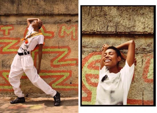 Anna usa tênis Mexico 66 SD da Onitsuka Tiger à venda na Choix e na loja própria da marca do JK Iguatemi (R$ 649,90), camiseta FM.86 (R$ 290), calça Felipe Fanaia à venda na Das Haus (R$ 750), brinco Isaac Silva (R$ 160) e blusa laranja Okan à venda na Loja 77 amarrada (R$ 190)
