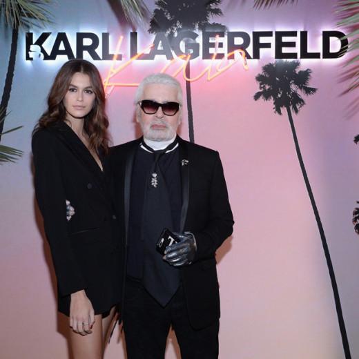 Karl Lagerfeld e Kaia Gerber comemoram o lançamento da coleção cápsula Karl x Kaia, em Paris! Clica na galeria pra conferir!