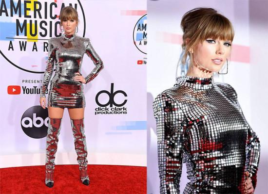 Taylor Swift foi com um look Balmain globo de espelho no AMA e causou - vem ver mais referências do tipo na galeria!