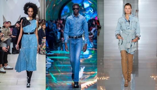 Rolou muito jeans na Semana de Moda de Paris! Looks completos, saias, vestidos, blusas... Clica na galeria pra ver!