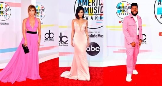 J-Lo, Vanessa Hudgens e Khalid investiram no pink pro American Music Awards 2018! Vem ver mais!