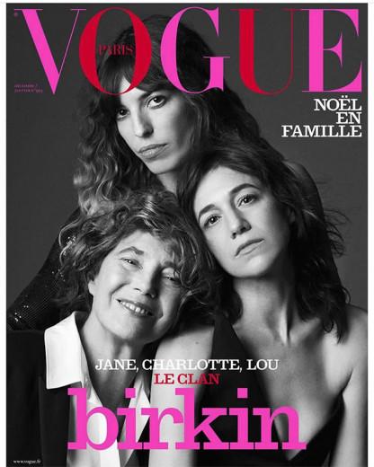 O clã Birkin  Lou Doillon em cima, Jane Birkin na esquerda e Charlotte  Gainsbourg 5d2e8d6055