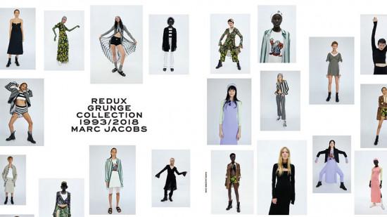 A coleção de pré primavera-verão 2019 da Marc Jacobs resgata o mítico desfile grunge que o estilista criou pra primavera-verão 1993 da Perry Ellis