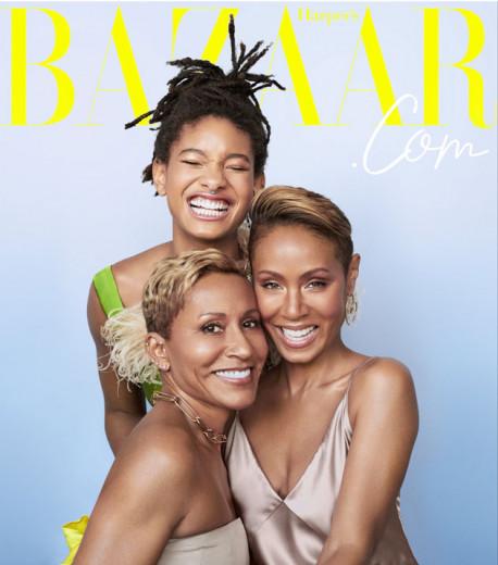 "A primeira capa digital da ""Harper's Bazaar"" traz Willow Smith, Adrienne Banfield-Norris e Jada Pinkett-Smith - clica na galeria pra conferir todas as fotos!"