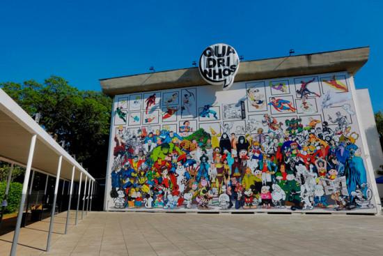 """A expô """"Quadrinhos"""" conta a história das histórias em quadrinhos, passando por diversos gêneros e personagens!"""