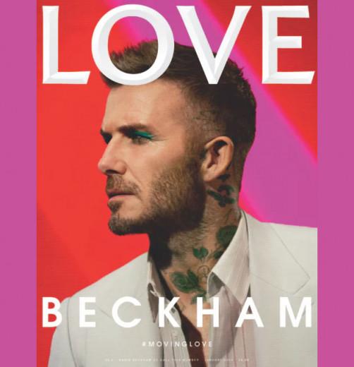 """Beckham de sombra azul! Que tal a capa da """"Love"""" de dezembro?"""