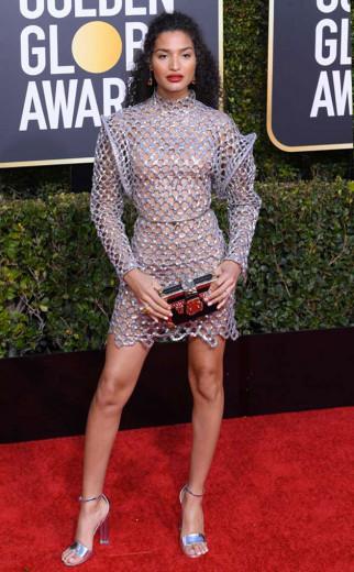 O modelo Louis Vuitton de Indya Moore se destacou na premiação - vem entender por quê!