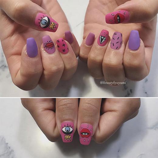 Que tal se inspirar na artista brasileira Ana Strumpf pra arrasar no nail art? Ver ver as criações do @beautybyayumy clicando na foto!