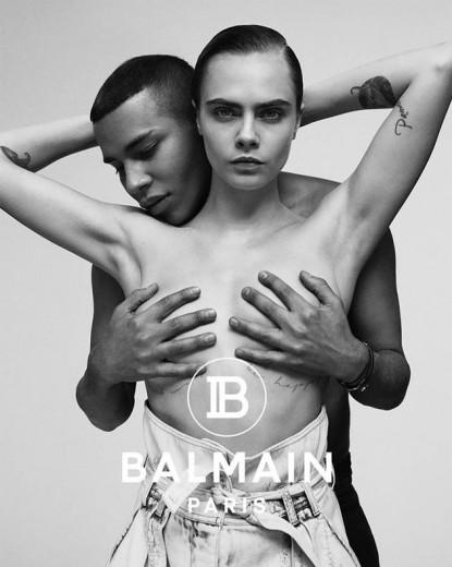 Cara Delevingne e Olivier Rousteing mostrando todo seu amor na nova campanha da Balmain!