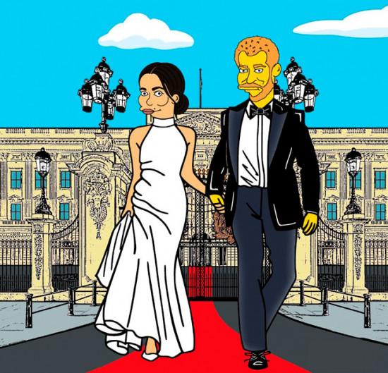 Quem lembra desse clique depois do casamento real? Meghan estava com o segundo vestido, um Stella McCartney! Vem ver mais clicando aqui!