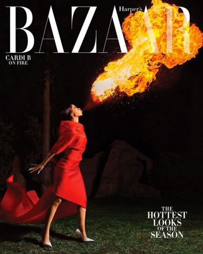 """Cardi B é capa da revista """"Harper's Bazaar"""" e o tema são contos de fada! Vem ver!"""