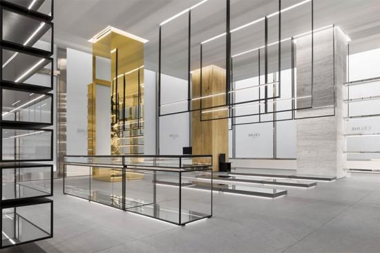 Poderia ser uma loja da Saint Laurent, mas é o projeto de Hedi Slimane pra nova loja da Celine na Madison Avenue em NY - clica na foto pra ver mais!