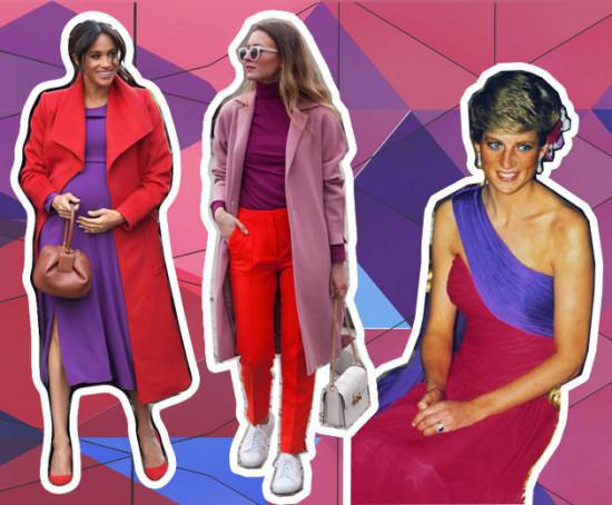 cb717793628 Inspiração  como usar vermelho e roxo de uma forma fashionista! - Lilian  Pacce