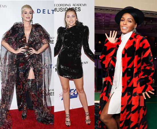 Katy, Miley, Janelle - vem ver o look das famosas pré-Grammy!