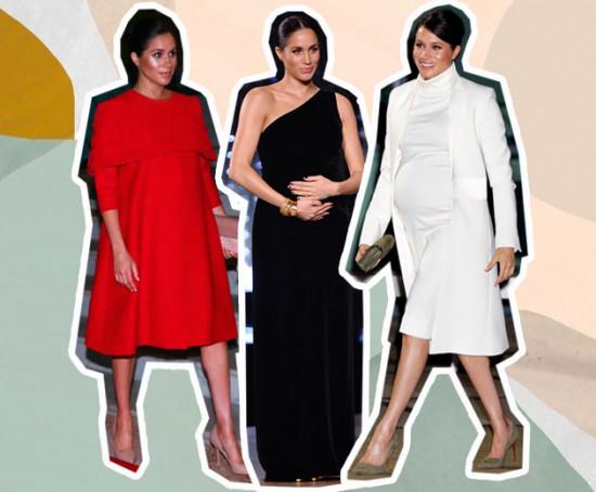 A Duquesa de Sussex vem arrasando nos looks de grávida e a gente separou 15 pra te inspirar - clica na foto pra ver!