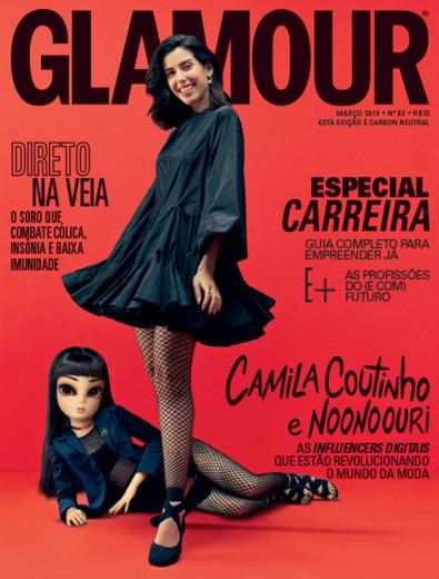 """A capa de março da """"Glamour"""" Brasil estrela as influencers Camila Coutinho e Noonoouri - vem ver mais detalhes clicando na foto!"""