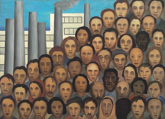 """""""Operários"""" de 1933, uma das obras mais importantes de Tarsila do Amaral e que vai fazer parte da exposição """"Tarsila Popular"""". Vem ver mais aqui na galeria!"""