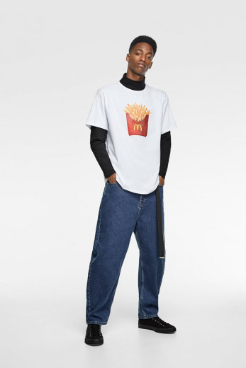 Camiseta da colab entre Zara e McDonald's - clica aqui pra ver mais!