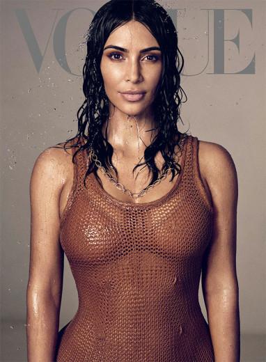 """KimKa na capa da """"Vogue"""" América - de blusa Chanel! Vem ver mais da estrela aqui na galeria"""