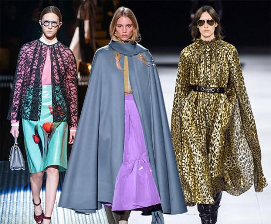 Prada, Marc Jacobs e Celine são algumas marcas que trouxeram capas pra passarela. Vem ver mais na galeria!