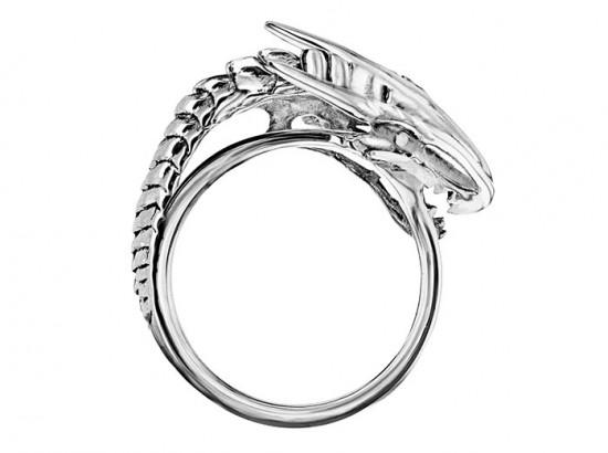 """Anel com dragão - veja mais das peças da Mey Designs, licenciamento oficial do """"Game of Thrones"""", aqui na galeria!"""