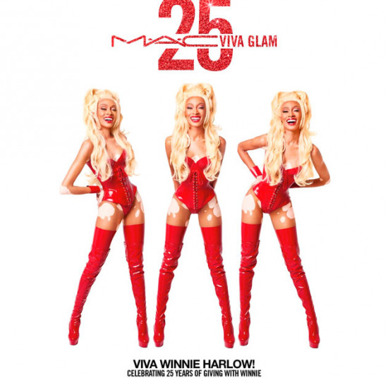 A modelo Winnie Harlow é a cara da campanha de aniversário de 25 anos do batom Viva Glam da M.A.C, vem ver!