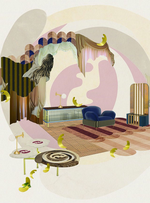 7ccb3499b Fendi Casa faz mais uma coleção com a designer Cristina Celestino – esse  desenho abstrato circular lembra as rosas que Karl Lagerfeld desenhou pra  marca em ...