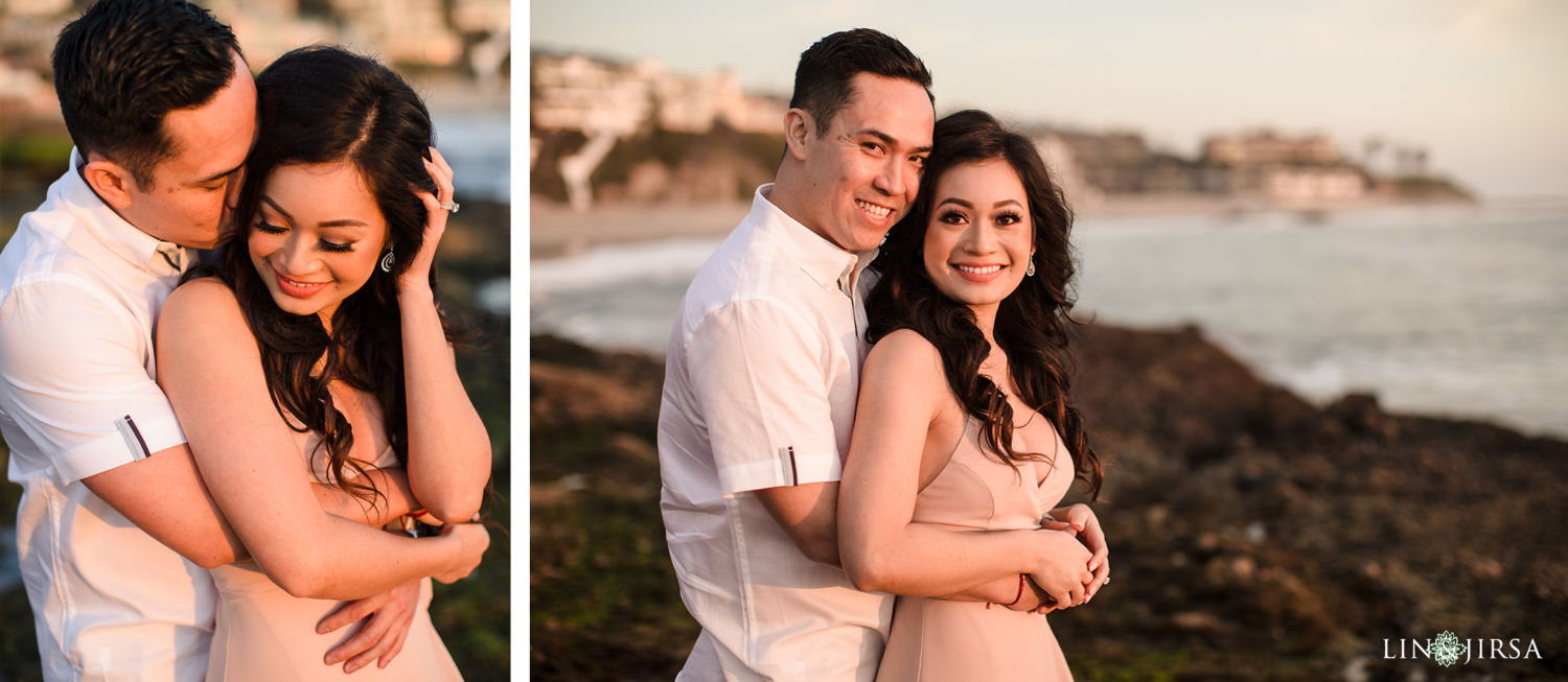 6 Orange County Victoria Beach Engagement Session