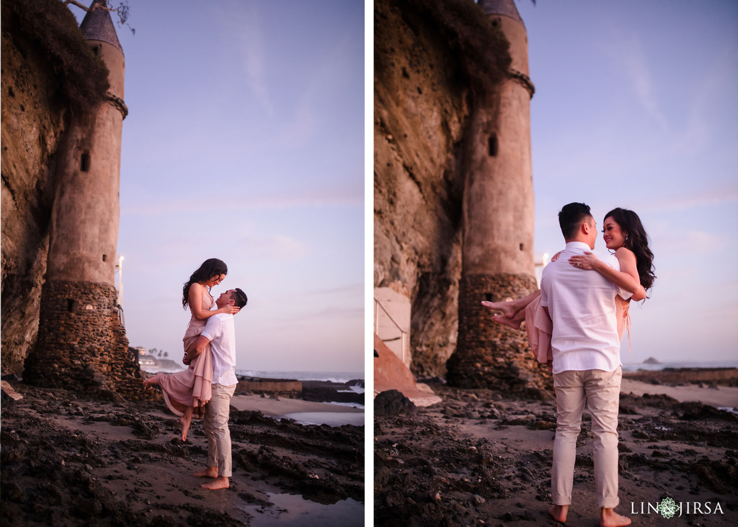 8 Orange County Victoria Beach Engagement Session