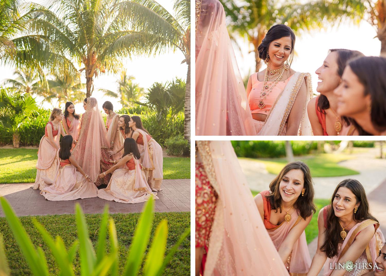 Bridesmaids Royalton Riviera Cancun Indian Wedding