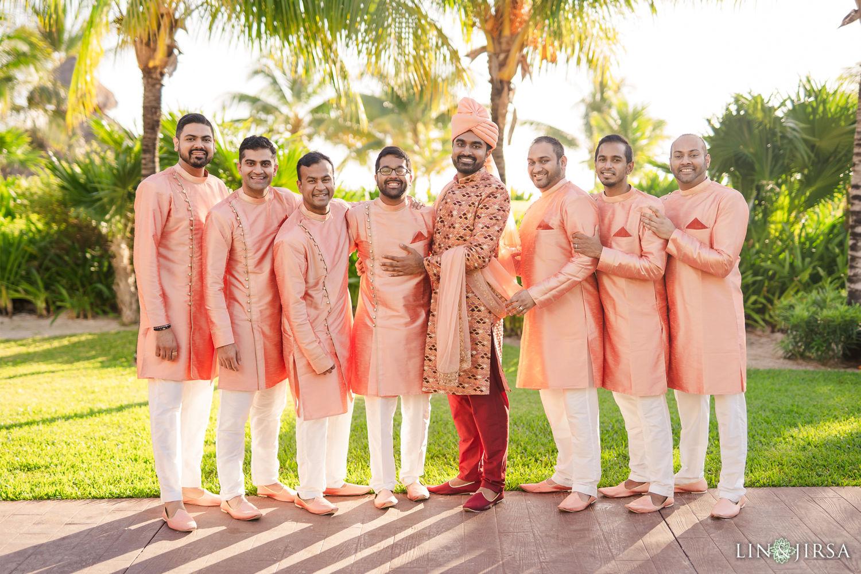 Groomsmen Royalton Riviera Cancun Indian Wedding