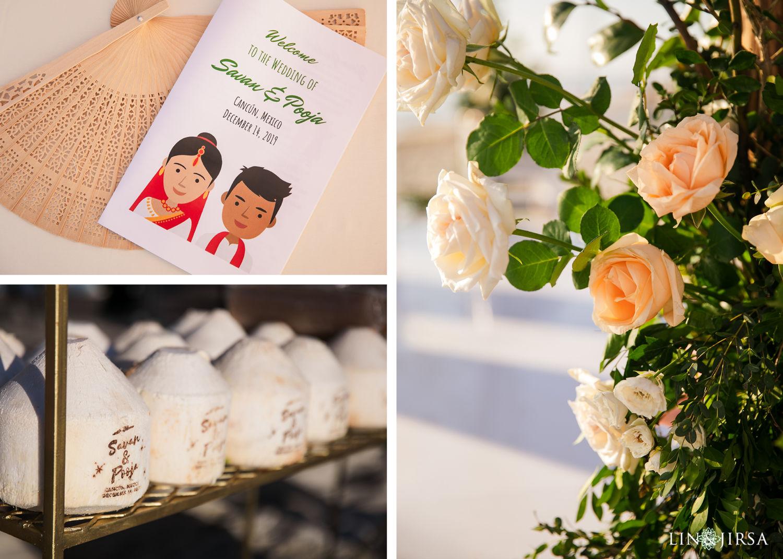 Wedding Ceremony Details Royalton Riviera Cancun Indian Wedding