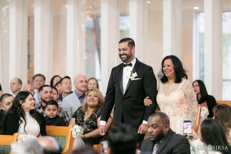 Wedding Ceremony 2 First Presbyterian Church of Santa Monica Marriott Marina Del Rey