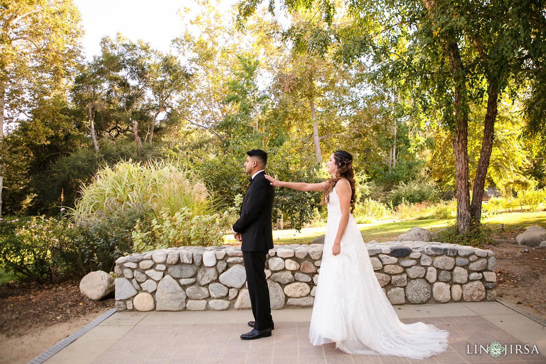 First Look Descanso Gardens Wedding