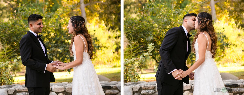 First Look Descanso Gardens Wedding2