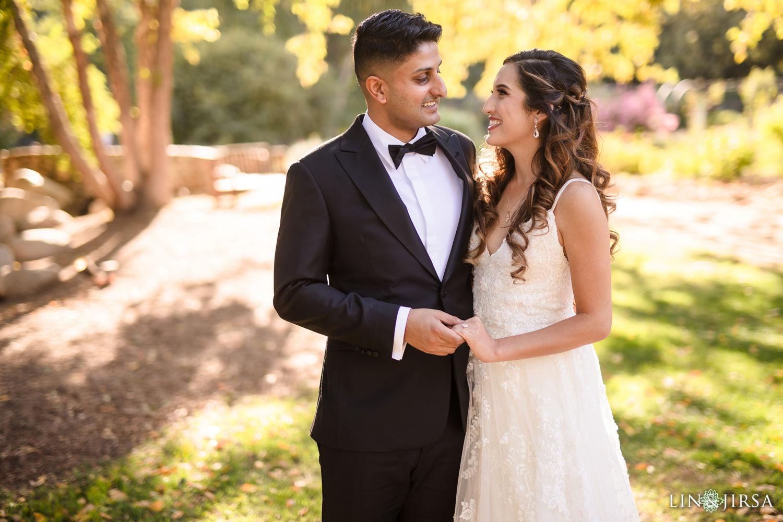 First Look Descanso Gardens Wedding3