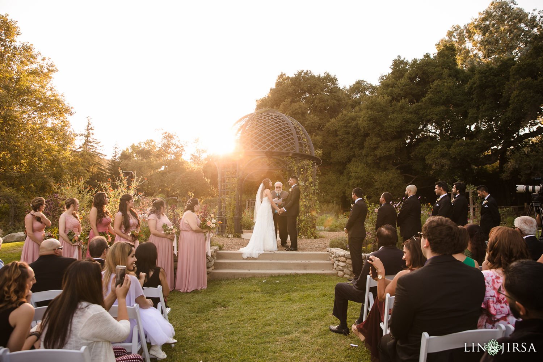 Cermony Descanso Gardens Wedding2