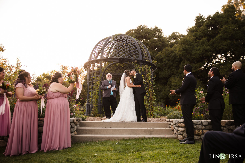 Ceremony 2 Wedding Party Descanso Gardens Wedding