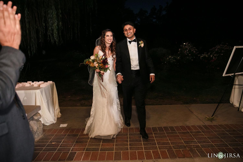 Wedding Reception Grand Entrance Descanso Gardens Wedding