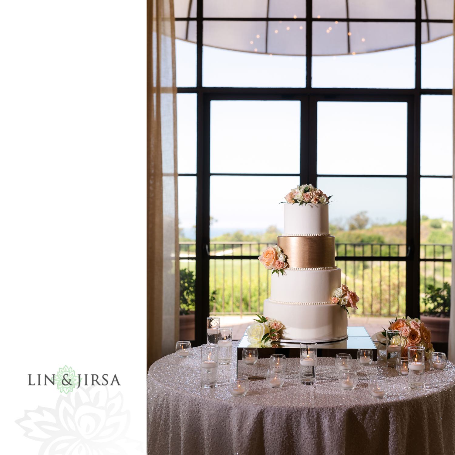 Wedding Reception Cake Pelican Hill Newport Beach Wedding