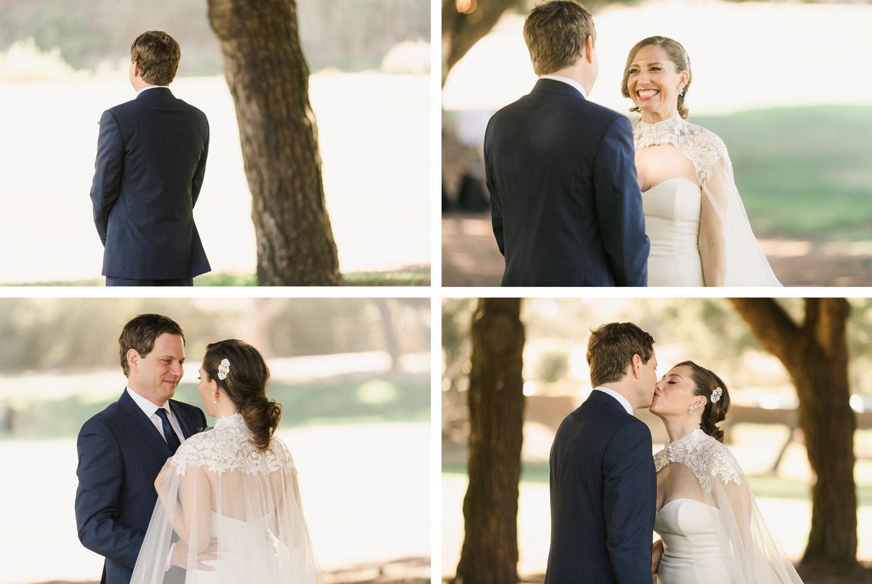 First Look The Ranch Laguna Beach Wedding
