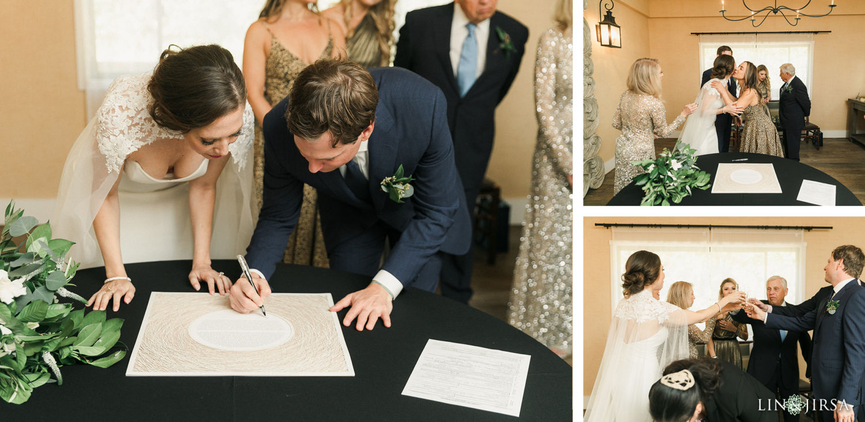 Ketubah Signing 03 The Ranch Laguna Beach Weddings